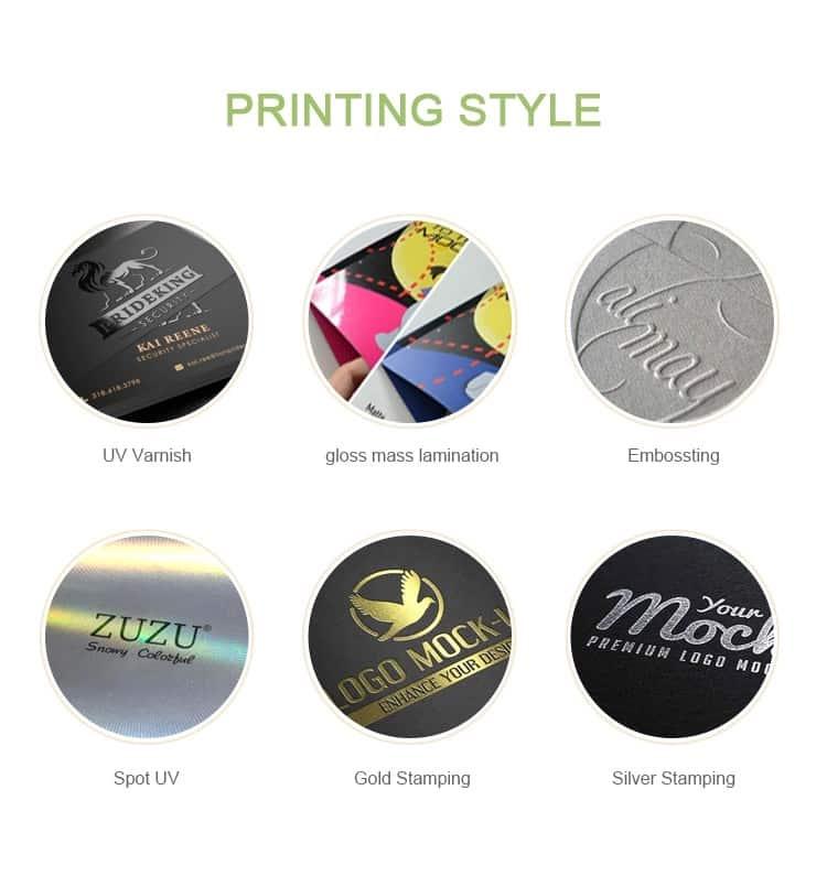 printing style