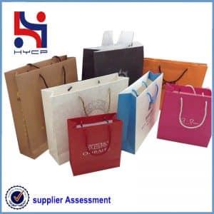 Paper shopping carrier bag