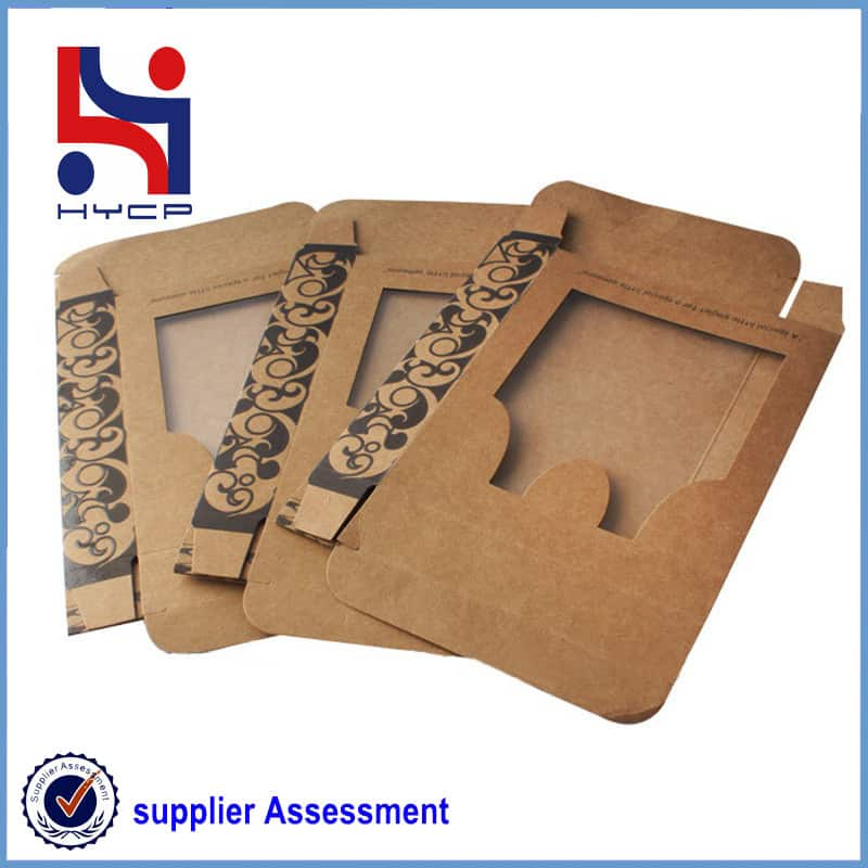 kraft paper boxes with windows