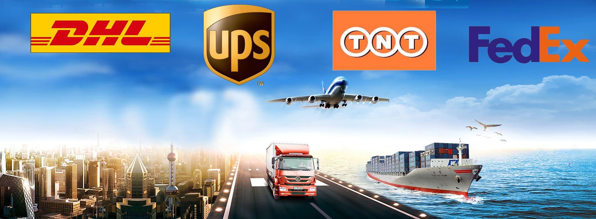 DHL,Fedex,UPS